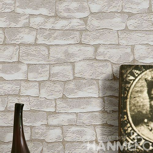 HANMERO 0.53 * 10M / Roll Stone Pattern Professional Sandstone Particle Wallpaper Supplier from China