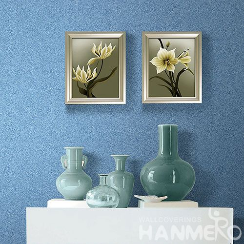 HANMERO Special Technology Mica Wallpaper of Blue Color for Bedroom Livingroom Wall