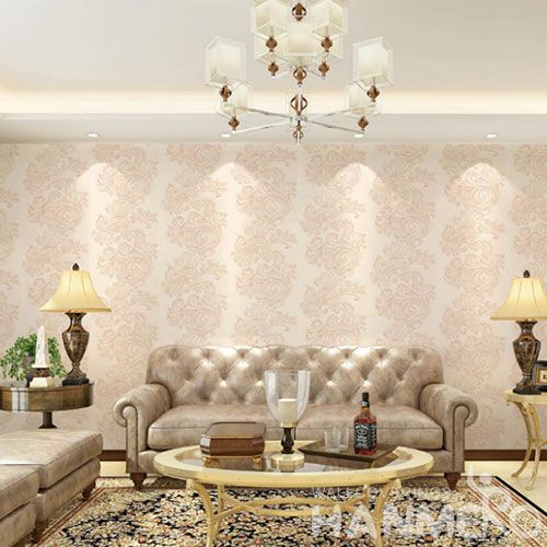 HANMERO Fashion Beads Wallcovering 0.53 * 10M / Roll Lounge Room Decorative Enviromental Wallpaper Wholesale Chinese Supplier