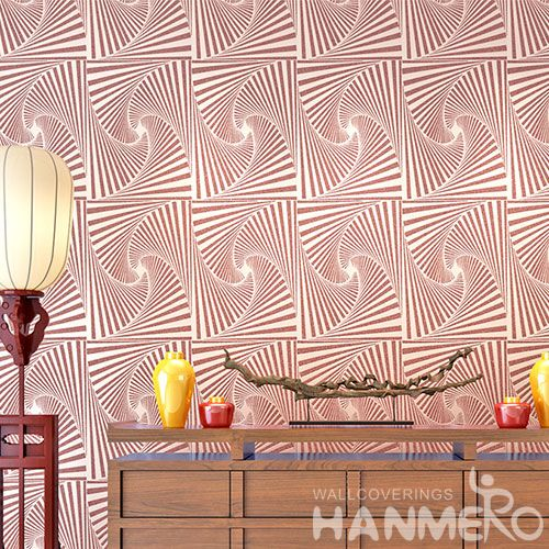 HANMERO Nature Beads China Best Wallpaper Germetric Pattern 0.53 * 10M Study Room Decor Wallcovering Best Selling Cheap Prices