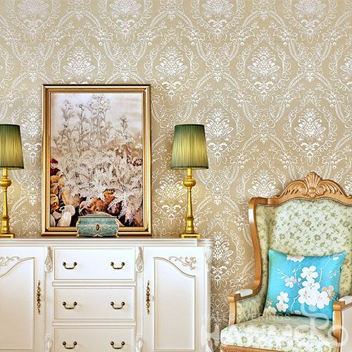 HANMERO New Style Decorative Floral Design Gilding Wallpaper Commercial Wall Coveringfor Interior Wall Chinese Wholesaler