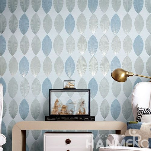 HANMERO High-end Eco-friendly Cool Wallpaper Designs for Wall Leaf Pattern Modern Style Exclusive Bronzing Technology On Sale