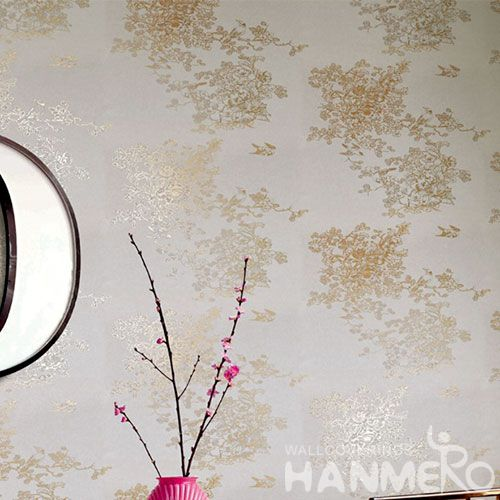 HANMERO High-end Removable Chinese Supplier Bronzing Wallcovering Selling Wallpaper Online Golden Color for Cozy Home Decoration