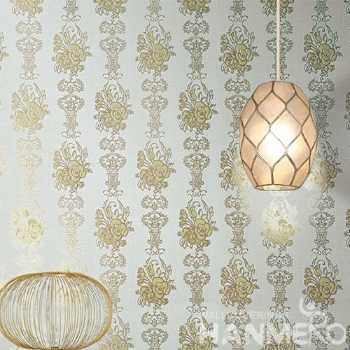 HANMERO Removable Living Room Modern Bronzing Wallpaper with Beautiful Patterns for Interior Home Decoration