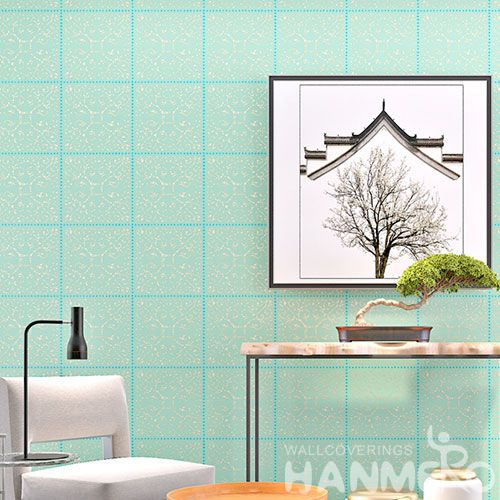 HANMERO Manufacture Wall Decoration Living Room Bathroom Light Blue Bronzing Wallpaper On Sale with Good Quality