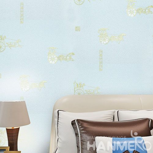 HANMERO Modern Style High Quality and Eco-friendly Bedroom Wallpaper Bronzing Technology from China Manufacture