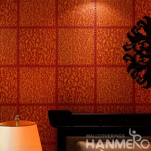 HANMERO 0.53 * 10M / Roll Household Decor Gloden Red Bronzing Wallpaper Unique Style Wholesale Prices and Excellent Quality