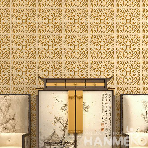 HANMERO Hot Selling Good Design and Best Prices Home Decor Bronzing Wallpaper 0.53 * 10M / Roll from Chinese Supplier
