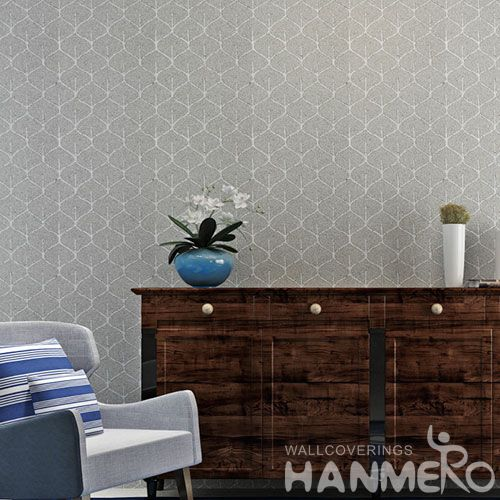HANMERO Modern Simple Design Plant Fiber Particle Wallpaper 0.53 * 10m / Roll Room Wallcovering Wholesaler