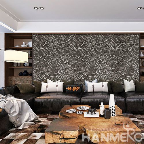HANMERO High-end Plant Fiber Particle Wallpaper Living room Interior Wall Wallcovering for Wholesale from China