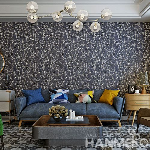 HANMERO High-end Household Decor Plant Fiber Particle Wallpaper with Beautiful Designs and Excellent Quality from China