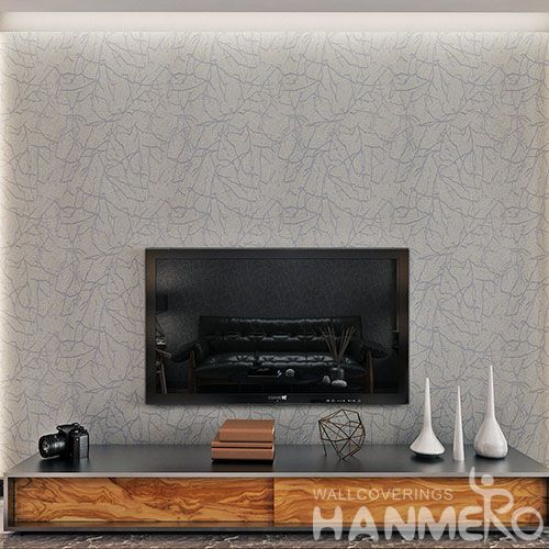 HANMERO Eco-friendly Removable Plant Fiber Particle Wallpaper for Bedroom Wallcovering Wholesaler Manufacturer from China