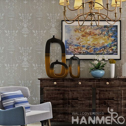 HANMERO Beautiful Pattern Modern Style Plant Fiber Particle Wallpaper Factory Supplier With SGS CE Certificate from China