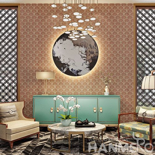 HANMERO Hot selling Room Decor  Plant Fiber Particle Walllpaper in Modern Simple Style from Chinese Manufacturer