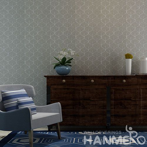 HANMERO 0.53 * 10M / Roll Chinese Exporter Natural Plant Fiber Particle Wallpaper for Interior Room Decoration with Unique Technology