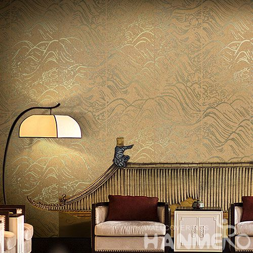 HANMERO New Arrival Bronzing Technology Plant Fiber Particle Wallpaper for Nightclub Decoration Manufacturer from China