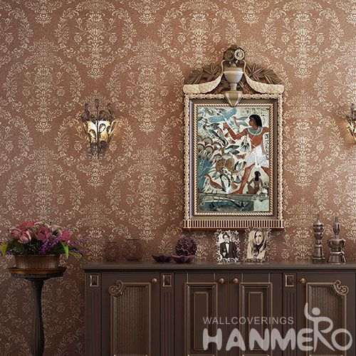 HANMERO Strippable Modern  Plant Fiber Particle Wallpaper with Bronzing Technology 0.53 * 10m / Roll Wholesaler Exporter from China