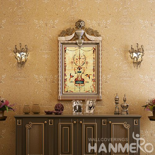 HANMERO Golden New Fashion Plant Fiber Particle Wallpaper for Living Room Bathroom Wall Manufacturer Designer from China