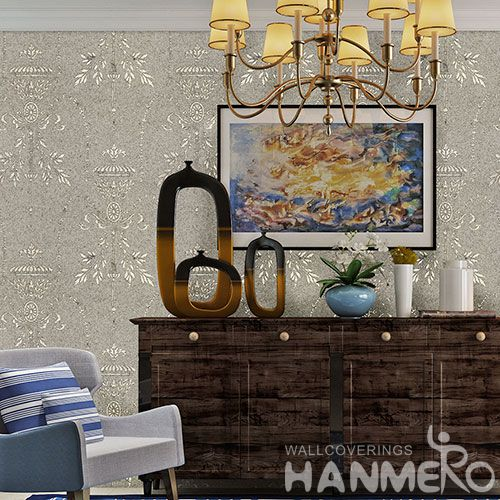 HANMERO High-end Eco-friendly Plant Fiber Wallpaper Natural Material 0.53 * 10M / Roll in Modern Style with Exclusive Technology On Sale