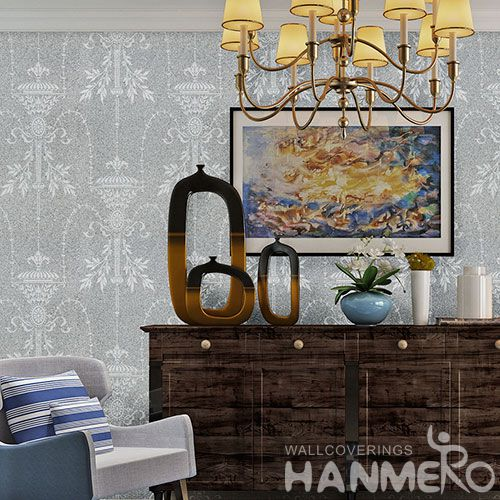 HANMERO Modern Simple Style 0.53 * 10M / Roll Natural Plant Fiber Wallpaper Household Room Wallcovering for Wholesale Prices
