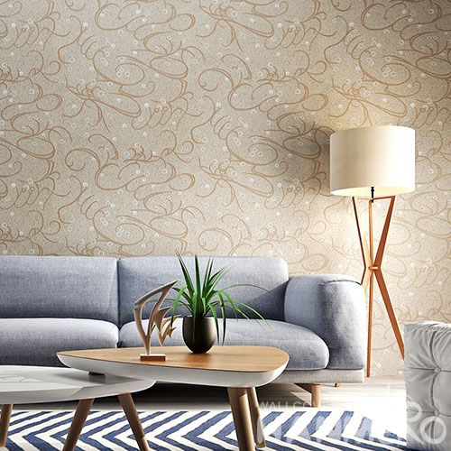 HANMERO Professional Home Wallcovering Plant Fiber Particle Wallpaper for Interior Household Wall from China Chinese