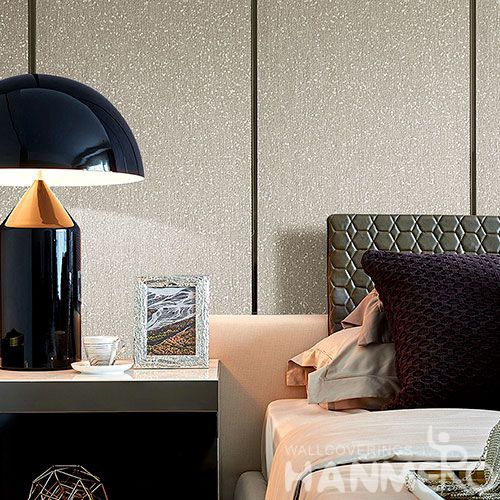 HANMERO Interior Room Decor Wallcovering Plant Fiber Particle Wallpaper 0.53 * 10M / Roll Natural Material for Living Room Kids Bedroom
