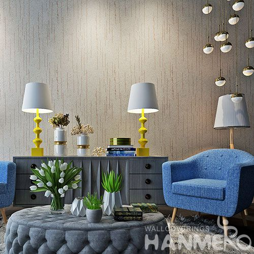 HANMERO Decorative Nature Sense Plant Fiber Particle Wallpaper For Living Room Bedroom Wallcovering Vendor from China