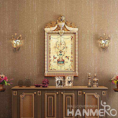 HANMERO Decorative Interior Wallcovering Manufacturer Plant Fiber Particle Wallpaper Wholesale Trader from China