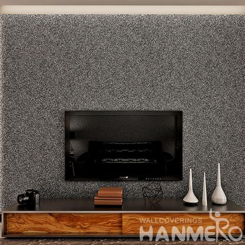 HANMERO Modern Simple Style Wallcovering Manufacture Natural Stone Textured Mica Wallpaper 0.53 * 10M / Roll for Study Room Factory Price