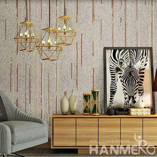 HANMERO High-end Eco-friendly Plant Fiber Wallpaper Natural Material 0.53 * 10M / Roll in Modern Style from China with Unique Technology