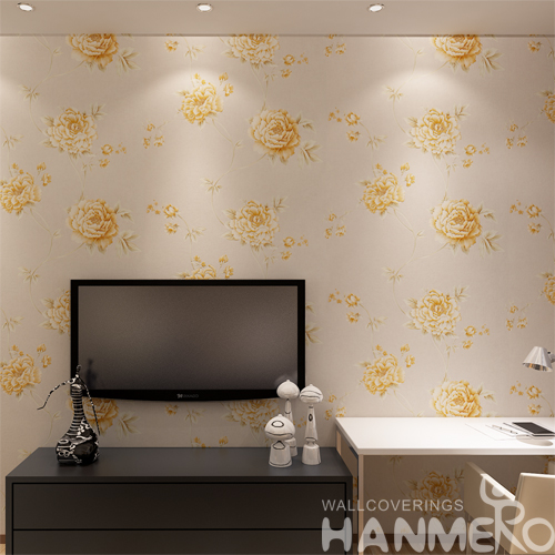 Hanmero Romantic Rural Deep Embossed Vinyl Wallpaper Murals