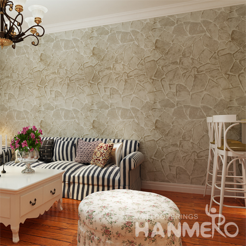 Hanmero Rural Style Imitation Marble Wallpaper Decor Gray