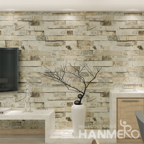 Hanmero Rural Style Imitation Brick Looks Real Up Wallpaper