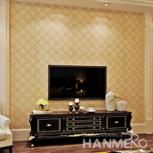 Hanmero 3D Faux Leather Textured 10m Vinyl Mural Wallpaper