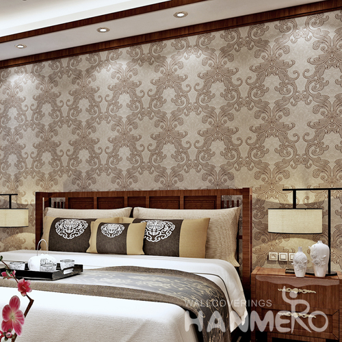 Hanmero Italian Deep Embossed Wallpaper Rolls Bronze