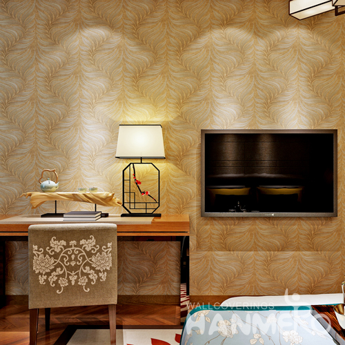 Hanmero 3D Modern Deep Embossed Wallpaper Rolls Gold