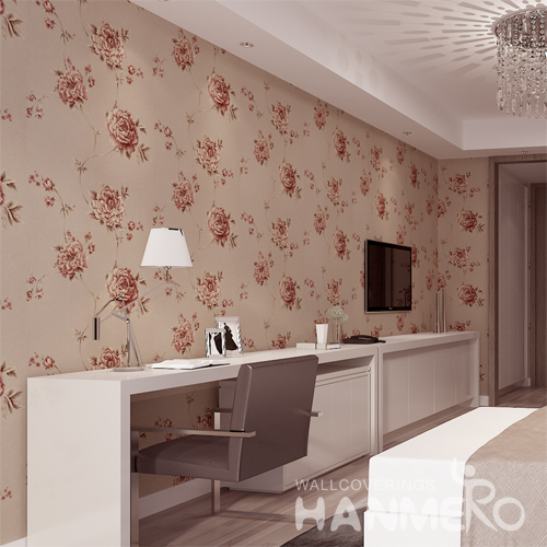 Hanmero Romantic Rural Deep Embossed Vinyl Wallpaper Beige