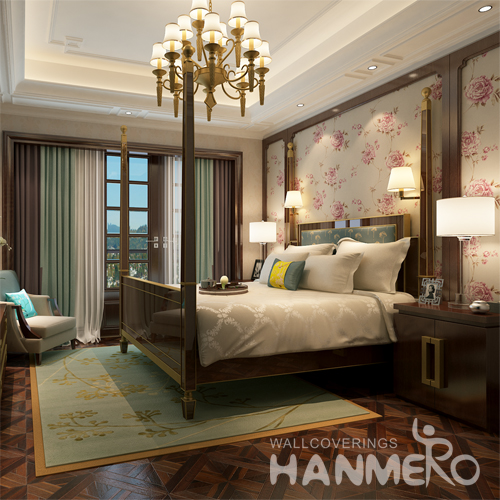Hanmero Romantic Rural Deep Embossed Vinyl Wallpaper Gray