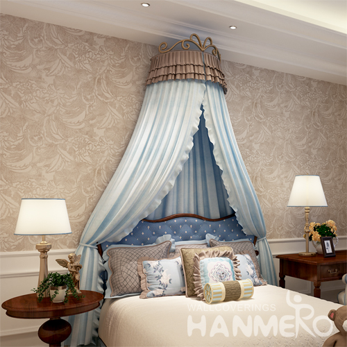 Hanmero Italian Deep Embossed Wallpaper Rolls Beige