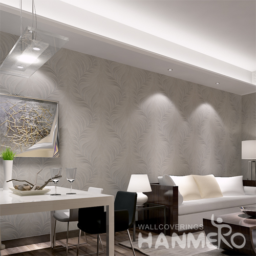 Hanmero Italian Deep Embossed Wallpaper Rolls Silver White
