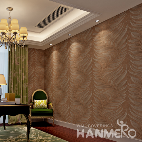 Hanmero Italian Deep Embossed Wallpaper Rolls Brown