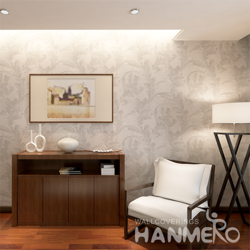 Hanmero Deep Embossed Leaves Textured Wallpaper Rolls