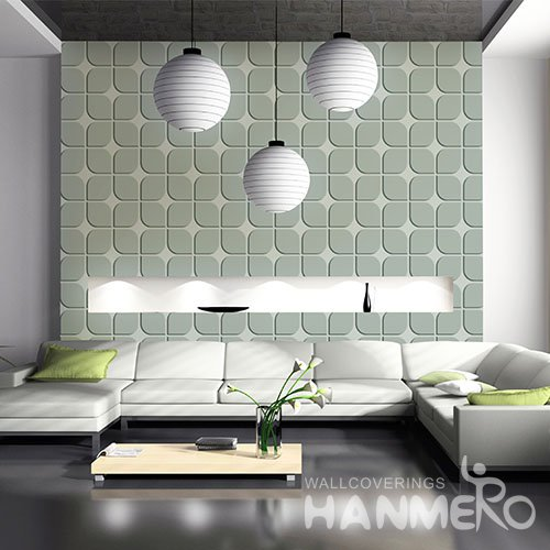 HANMERO 3D Modern Embossing PVC Wallpaper Gray Home Decor
