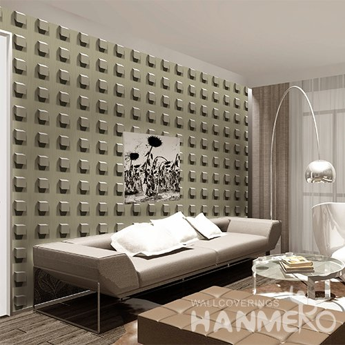 HANMERO 3D Modern Embossing PVC Wallpaper Green Home Decor