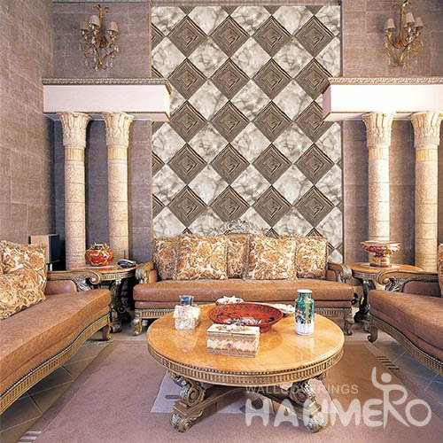 HANMERO 3D European Embossing PVC Wallpaper 20.86 393inches Yellow Home Decor