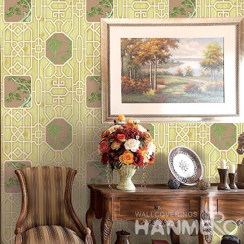 HANMERO 3D Rural Embossing PVC Wallpaper Green Home Decor