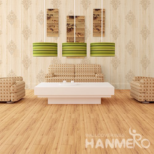 HANMERO 3D Rural Embossing PVC Wallpaper Yellow Home Decor