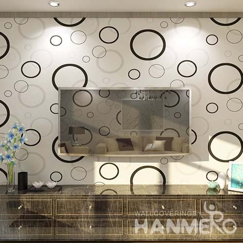 HANMERO 3D Modern Embossing Non Woven Wallpaper White Home Decor