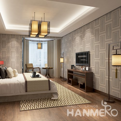 HANMERO 3D Modern Deep Embossed PVC Wallpaper Gray Home Decor