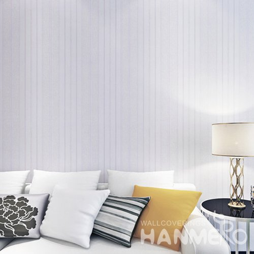 HANMERO Purple Stripe Line PVC Embossed Bedroom/Living Room Wallpaper